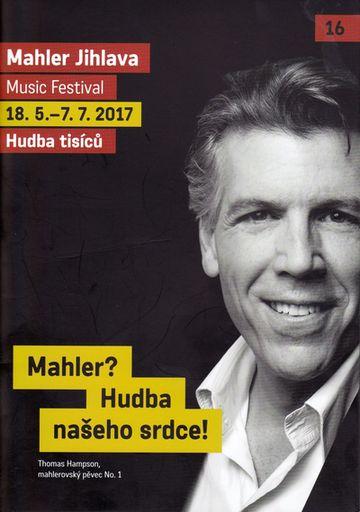 obálka programu 16. ročníku hudebního festivalu Mahler Jihlava 2017
