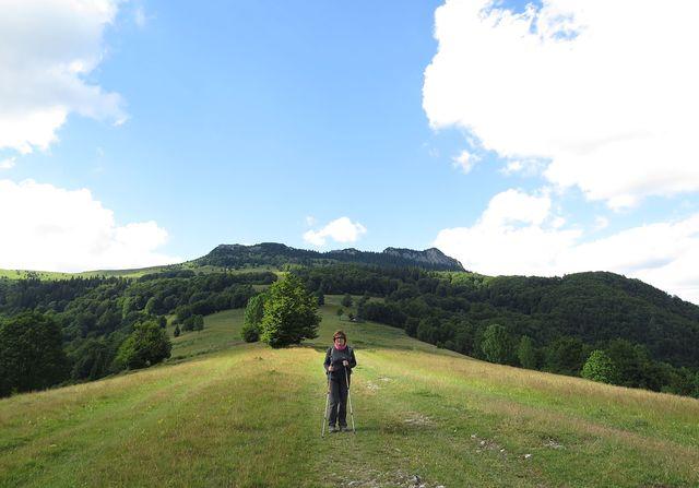 Černý kámen je dominantní hřeben nad dolinou Revúcej