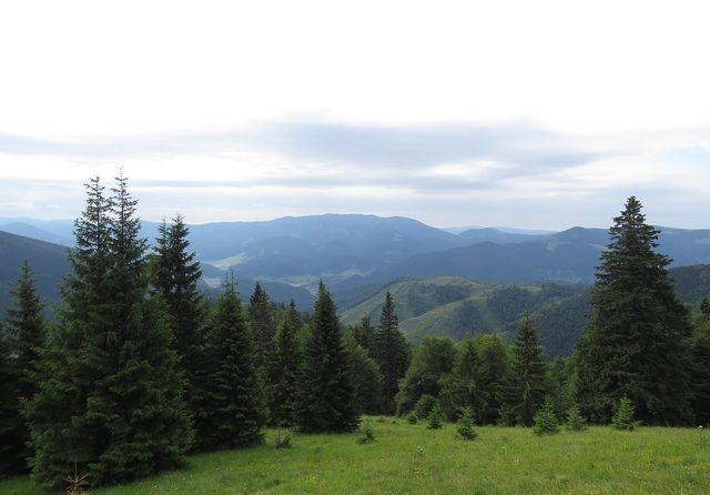 výhled do doliny Velké Fatry