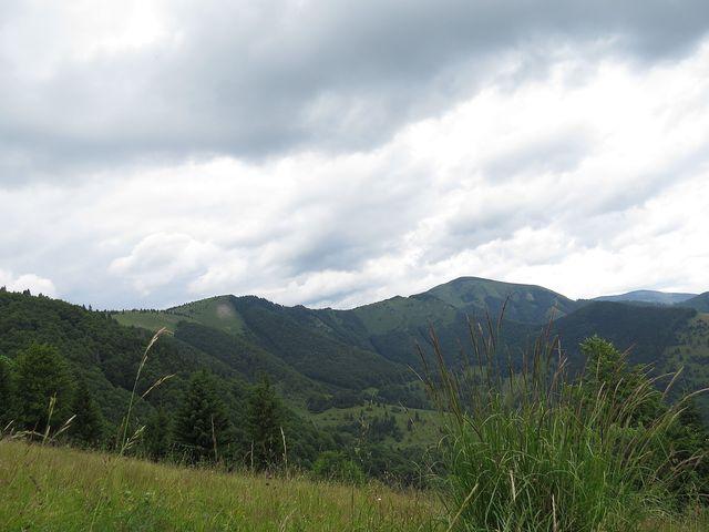 hřebenová trasa z Rakytova přes Minčol, kterou jsme absolvovali