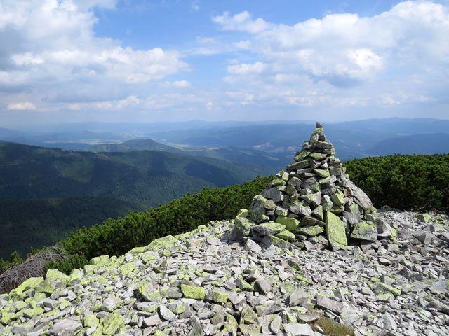 vrchol Prašivé (1 652 m)