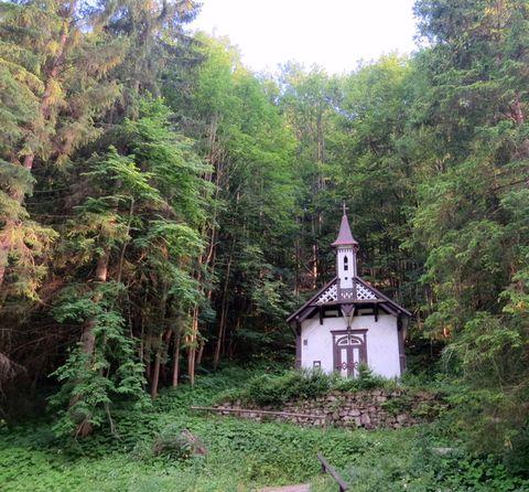 dřevěná kaplička sv. Ondřeje v lázních Korytnica