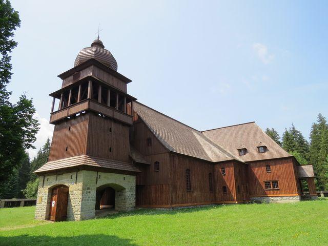 artikulární evangelický kostel u obce Svätý Kríž