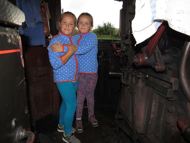 exkurze na pracovišti strojvedoucího a topiče parní lokomotivy