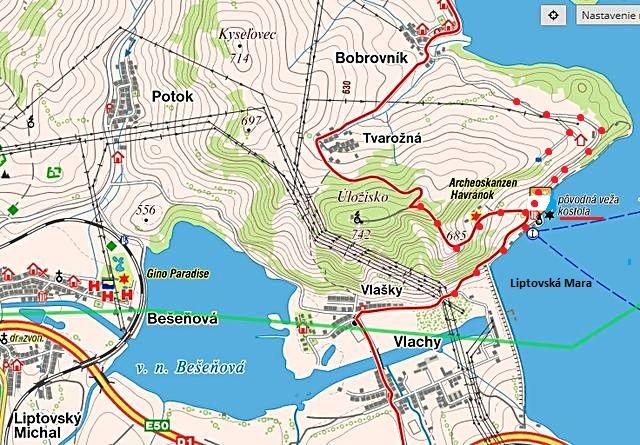 prohlídka muzea v přírodě na kopci Úložisko nad Liptovskou Marou 8.7.2017