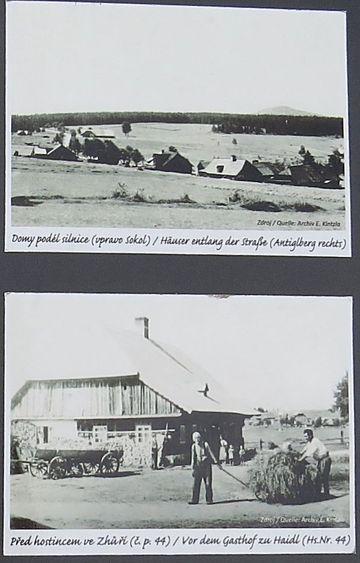 bývalá obec Zhůří (Haidl) ležela na svahu Huťské hory (1 187 m)