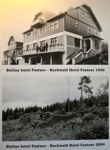 historické fotografie hotelu na Bučině