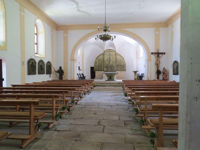 interiér kostela sv. Vintíře - jediný tohoto zasvěcení