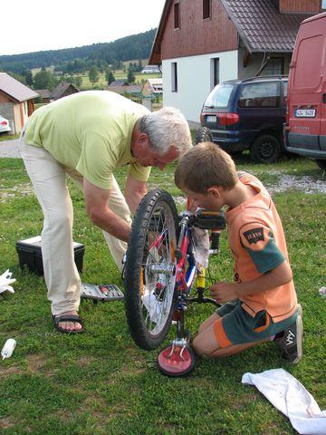 výuka mladého cyklisty